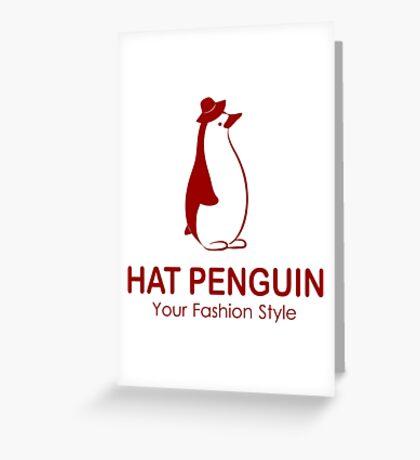 HAT PENGUIN Greeting Card