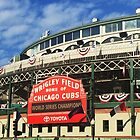 Wrigley Field With World Series Champions Marquee by lmocimages