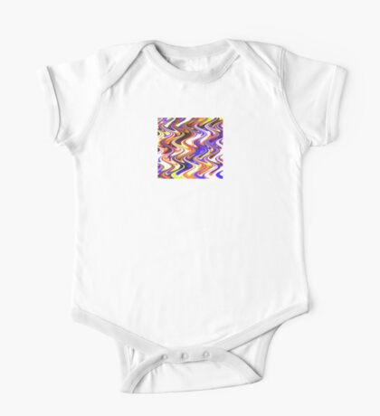 Abstract Waves 27 One Piece - Short Sleeve