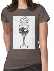 Wineglass Womens Fitted T-Shirt