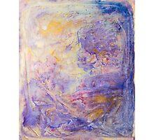 Golden Purple Ink Swirl Design Photographic Print
