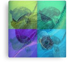 Beautiful colorful SeaTurtle Ocean Painting  Canvas Print