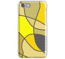 Yellow Shades and Textures iPhone Case/Skin