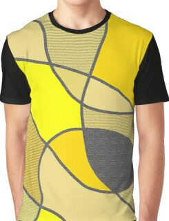 Yellow Shades and Textures Graphic T-Shirt