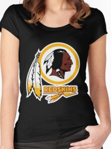 REDSKINS LOGO Women's Fitted Scoop T-Shirt