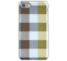 Vintage Volkswagen VW Bus Brown Yellow Plaid Pattern iPhone Case/Skin