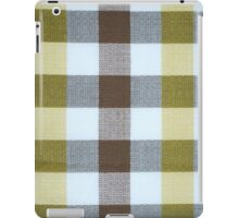 Vintage Volkswagen VW Bus Brown Yellow Plaid Pattern iPad Case/Skin