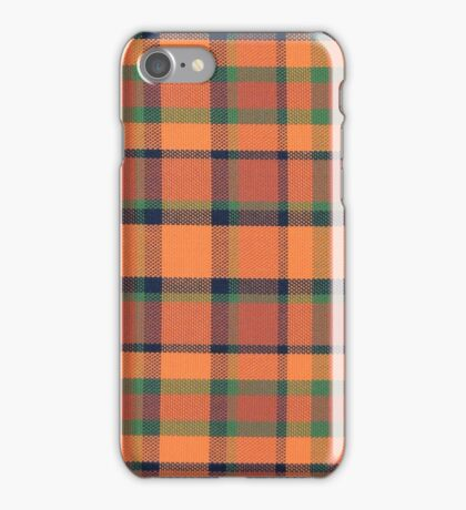 Orange Green Plaid Vintage Volkswagen Westfalia Pattern iPhone Case/Skin