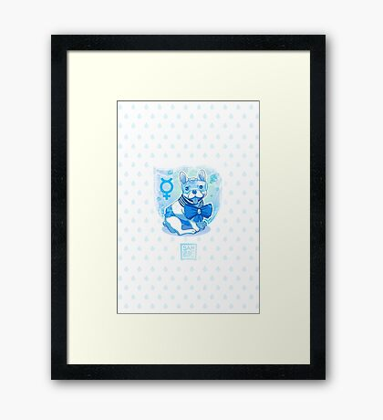 Sailor MercuFrenchie (Water Drop Pattern) Framed Print