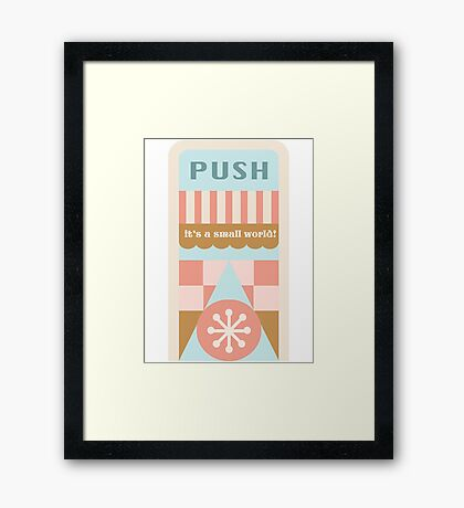 Small World Trash Can Design Framed Print