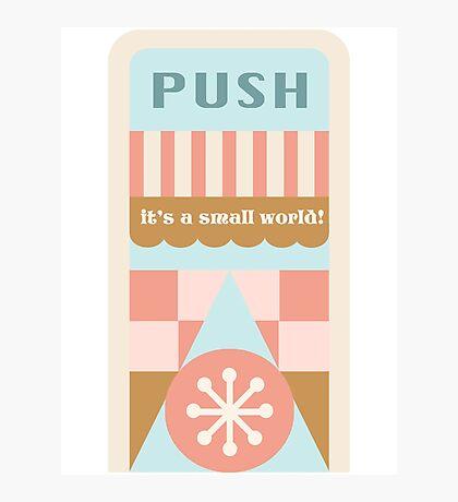 Small World Trash Can Design Photographic Print