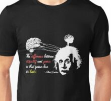 Albert Einstein Shirt with Genius Quote Unisex T-Shirt