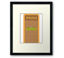 Adventureland Trash Can Design Framed Print