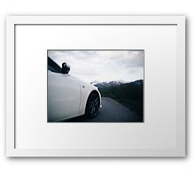 Lexus F Sport in the Mountains Framed Print