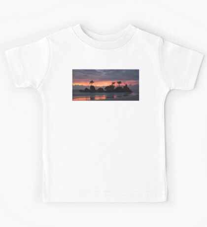 Willy's Rock in Boracay at sunset Kids Tee