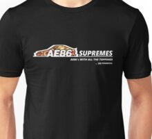 AE86 Supremes - OG press - Black Unisex T-Shirt