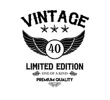 Vintage 40 years Old - Limited Edition Photographic Print