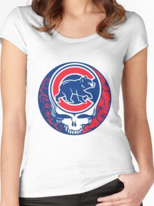Grateful Cubs Women's Fitted Scoop T-Shirt