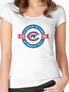Century of Cubs Women's Fitted Scoop T-Shirt