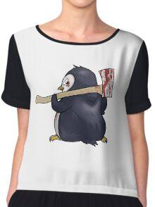 Funny Penguin Cartoon Chiffon Top