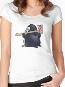 Funny Penguin Cartoon Women's Fitted Scoop T-Shirt