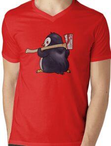 Funny Penguin Cartoon Mens V-Neck T-Shirt