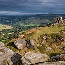 Morning Derbyshire from Curbar Edge, Peak District, England by Cliff Williams