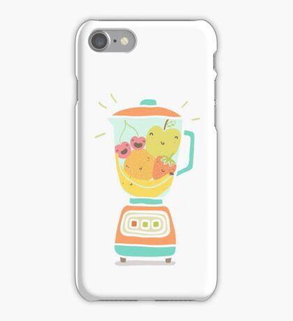 Funny fruits in blender iPhone Case/Skin