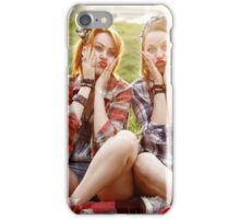 Hipster Girls Dressed in Pin Up Style Having Fun iPhone Case/Skin