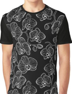 Black and white  Orchid . Graphic T-Shirt