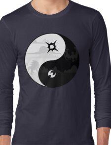 Sun and Moon Yin and Yang Long Sleeve T-Shirt
