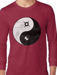 Sun and Moon Yin and Yang Long Sleeve T-Shirt