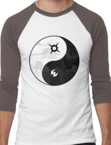 Sun and Moon Yin and Yang Men's Baseball ¾ T-Shirt