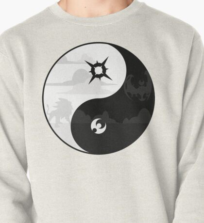 Sun and Moon Yin and Yang Pullover