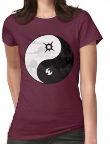 Sun and Moon Yin and Yang Womens Fitted T-Shirt