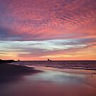 Sunrise in Broome, Pearl Coast near the Kimberley in Western Australia. by Mary Jane Foster