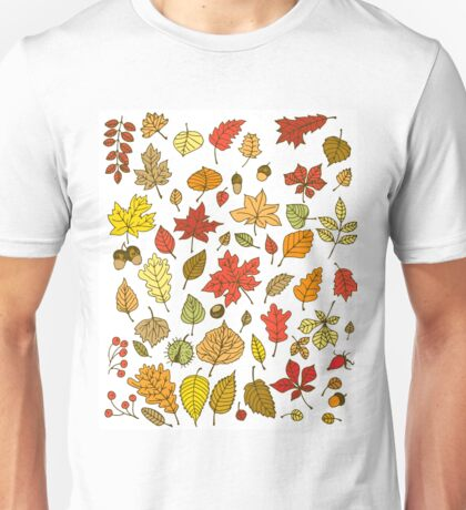 Autumn leaves, nuts and berries Unisex T-Shirt