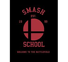 Smash School (Red) Photographic Print