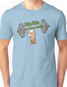 Funny Bam Bam Training The Flintstones Cartoon Unisex T-Shirt