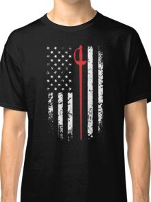 Vintage Fencing American Flag Classic T-Shirt