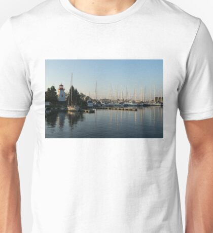 Lighthouse Morning at the Yacht Club Unisex T-Shirt