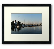 Lighthouse Morning at the Yacht Club Framed Print