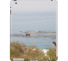 Israel, Jaffa, The turret of El Baher mosque and the Andromeda rock  iPad Case/Skin