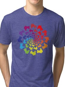 circle rainbow skate Tri-blend T-Shirt