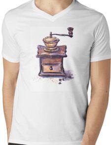 Coffee mill Mens V-Neck T-Shirt