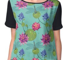 Patterns of a Pond Chiffon Top