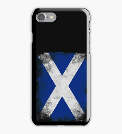 Scotland Flag Proud Scottish Vintage Distressed Shirt iPhone Case/Skin