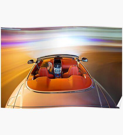 Aston Martin DB9 Volante - Shot on Location in Monaco. Poster