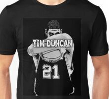 TIM DUNCAN BLACK Unisex T-Shirt