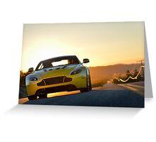 Aston Martin V12 Vantage S - Shot on Location in California.  Greeting Card
